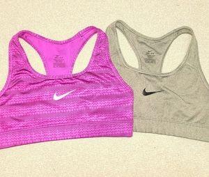 2 XS womens NIKE sports bras